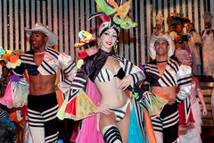 Cabaret Parisien in Havana. Cuba (performance of the second - after Tropicana - famous cabaret in Havana stock image