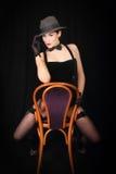 Cabaret sexy lady Stock Photos