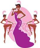 Cabaret singer Royalty Free Stock Image