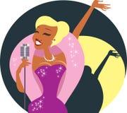 Cabaret singer Stock Photography