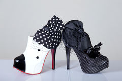 Cabaret style female shoes Stock Photo