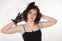 Cabaret style gilr Royalty Free Stock Photos