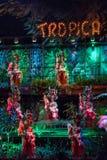 Cabaret Tropicana μουσικό παρουσιάζει στοκ εικόνα με δικαίωμα ελεύθερης χρήσης