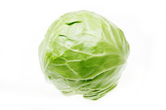 Cabbage. On the white background Royalty Free Stock Photo