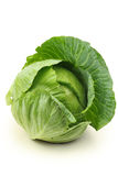 Cabbage. Green cabbage isolated on white background Royalty Free Stock Photography