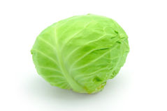 Cabbage. Fresh cabbage isolated on white Stock Photography