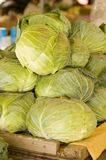 Cabbage. Heads of cabage for sale at market Stock Photos