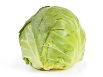 Cabbage. Fresh cabbage on white background Royalty Free Stock Photography