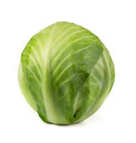 Cabbage. Green cabbage isolated on white Stock Photo