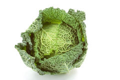 Cabbage. Isolated on the white Stock Photos