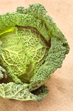 Cabbage. Fragment of cabbage on the table Stock Photos