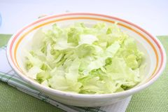 Cabbage. Some fresh cabbage in a bowl royalty free stock image
