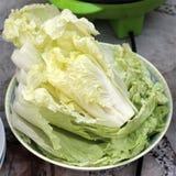 Cabbage. On dish for Sukiyaki Stock Photo