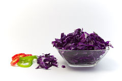 Cabbage. In glass with pepper Royalty Free Stock Photography