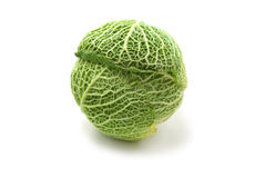 Cabbage. Green cabbage isolated on white background stock photo