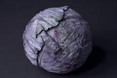 Cabbage. Wet cabbage on a black background Stock Photography
