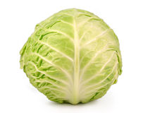 Cabbage. Green isolated on white Royalty Free Stock Photography