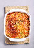 Cabbage and bacon bake in tin Royalty Free Stock Photography