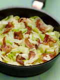 Cabbage with bacon Stock Image