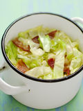 Cabbage with bacon Stock Photo