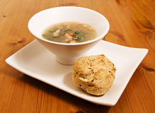 Cabbage and bacon soup Royalty Free Stock Image