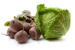 Cabbage and beet root Royalty Free Stock Photography
