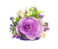 Cabbage is in a bouquet, floral background Royalty Free Stock Photos