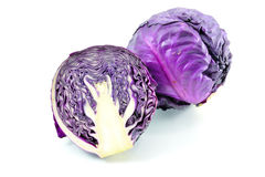 Cabbage. (Brassica oleracea or variants) is a leafy green or purple biennial plant, grown as an annual vegetable crop for its dense-leaved heads. Closely royalty free stock photos