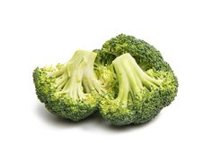 Cabbage broccoli isolated. On white background Royalty Free Stock Photo