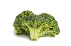 Cabbage broccoli isolated. On white background Royalty Free Stock Image