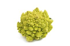 Cabbage broccoli isolated. On white background Royalty Free Stock Photos