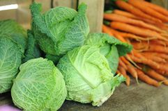 Cabbage and carrot Stock Image