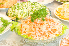 Cabbage and carrot salad Stock Photography