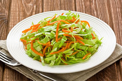 Cabbage and carrot salad Royalty Free Stock Images