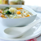 Cabbage and carrot soup Stock Images