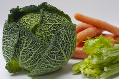 Cabbage, Carrots and Celery Stock Photo
