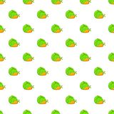 Cabbage and carrots pattern, cartoon style Stock Photography