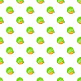 Cabbage and carrots pattern, cartoon style Royalty Free Stock Image
