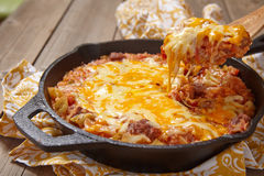 Cabbage casserole with beef and cheese Stock Images