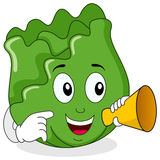 Cabbage Character Holding a Megaphone Stock Photography