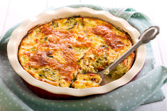 Cabbage and chicken bake. In a tin stock images