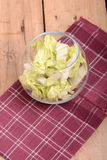 Cabbage chopped in glass bowl Royalty Free Stock Photo
