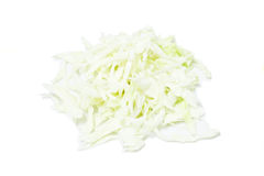 Cabbage. Chopped cabbage on white background Royalty Free Stock Photos
