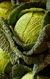 Cabbage closeup. A closeup of a cabbage amongst others at a market stall in Munich Royalty Free Stock Images