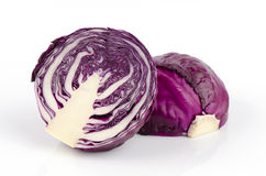 Cabbage, Common Cabbage, Red Cabbage (Brassica oleracea L. var. Capitata L.). Has health benefits Stock Image