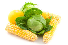 Cabbage and corns Stock Photo