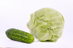 Cabbage and cucumber Royalty Free Stock Photography