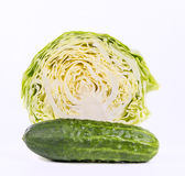 Cabbage and cucumber Royalty Free Stock Photos