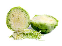 Cabbage cut on two halves Royalty Free Stock Photo