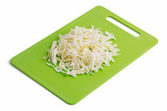 Cabbage on a cutting board Stock Photography